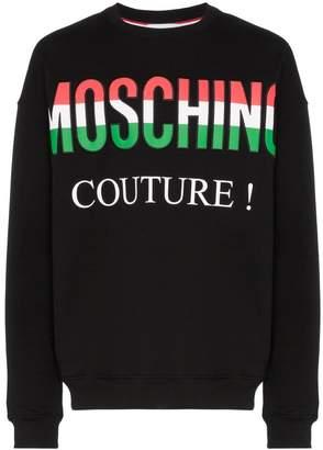 Moschino Italy logo crew neck sweater