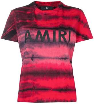 Amiri tie-dye logo T-shirt