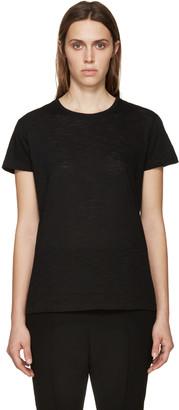 Proenza Schouler Black Slub Cotton T-Shirt $185 thestylecure.com
