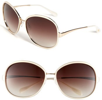 Oliver Peoples 'Racy' Metal Sunglasses