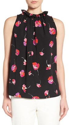 CeCe 'Floral Melody' Print Sleeveless Ruffle Neck Blouse $89 thestylecure.com
