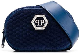 Philipp Plein velvet logo waist bag