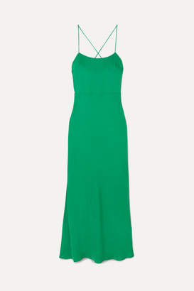 Jason Wu GREY - Cutout Twill Maxi Dress - Green
