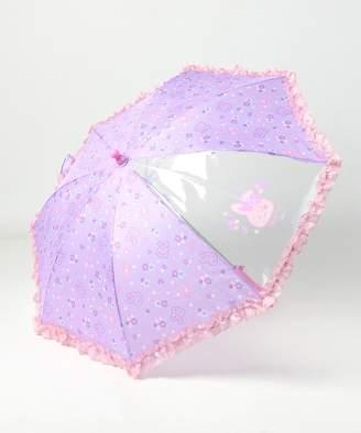 Mother garden うさもも 傘 かさ お花畑柄 長さ45cm(C)FDB
