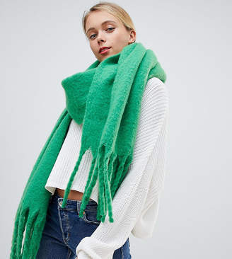 My Accessories green super soft extra long scarf