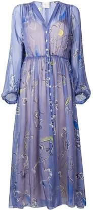 Forte Forte floral print shirt dress