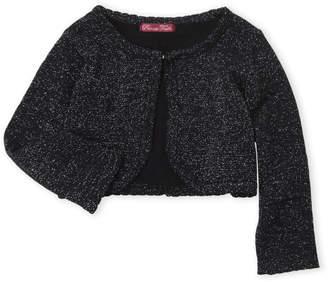 Princess Faith (Toddler Girls) Metallic Lurex Knit Cardigan