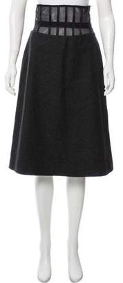 Versus Wool Midi Skirt