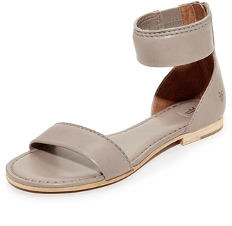 Frye Carson Ankle Zip Sandals $198 thestylecure.com