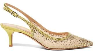 Gianvito Rossi Regina 55 Crystal Embellished Pumps - Womens - Yellow