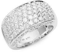 Saks Fifth Avenue 14K White Gold Diamond-Encrusted Ring