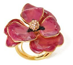 Anthropologie Gilded Posy Ring