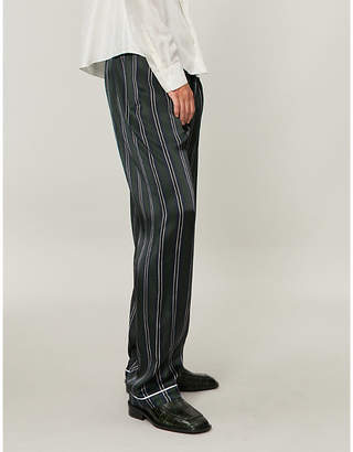 Loewe Striped silk trousers
