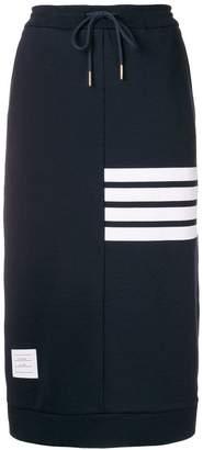 Thom Browne 4-Bar Loopback Sack Skirt