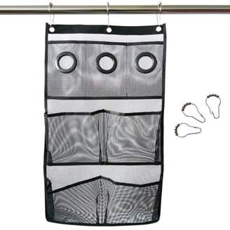 Viugreum Quick Dry Hanging Caddy Bath Organizer with Mesh Pockets,Hanging Mesh Shower Caddy,Bathroom Accessories, Save Space in Small Bathroom
