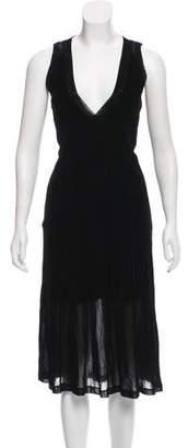 Theyskens' Theory Velvet Midi Dress