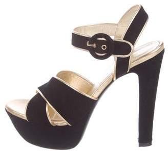 Barbara Bui Suede Round-Toe Sandals