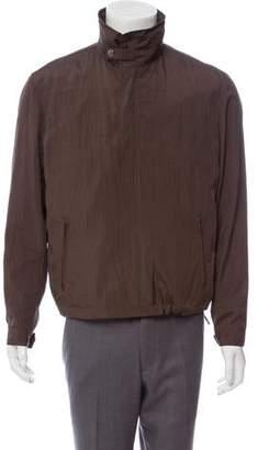 Armani Collezioni Woven Zip-Up Jacket