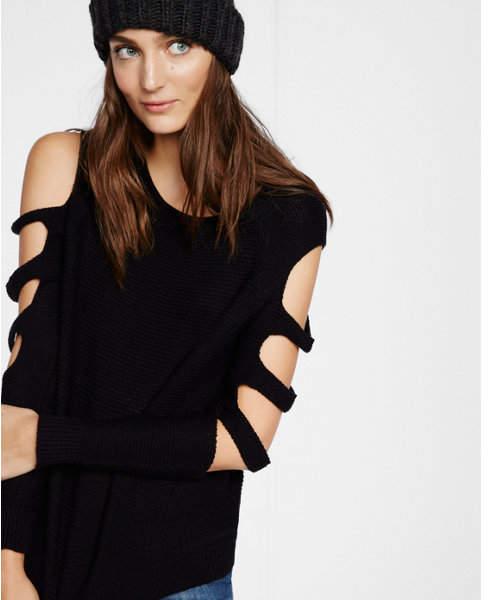 Express ladder shoulder knit boxy sweater