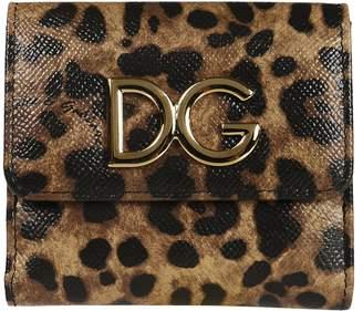Dolce & Gabbana Leopard French Wallet