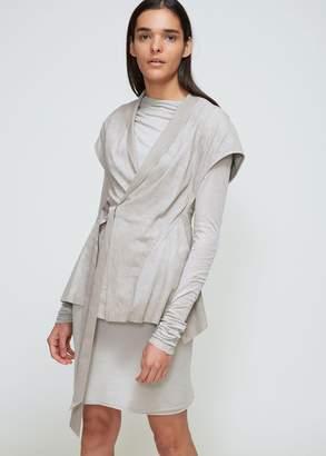 Rick Owens Lilies Blistered Leather Wrap Vest