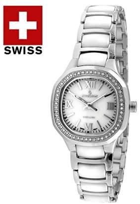 Peugeot Women's PS4906WS Analog Display Swiss Quartz Silver Watch
