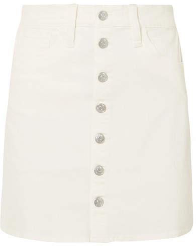 Madewell - Stretch-denim Mini Skirt - White