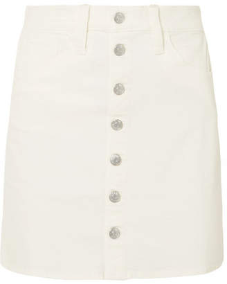 Madewell Stretch-denim Mini Skirt - White