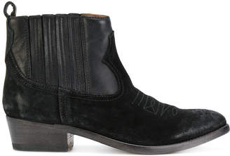Golden Goose suede cowboy style boots