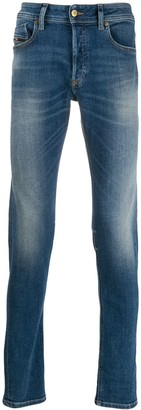 Diesel faded straight leg jeans