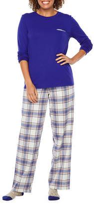 cce915222c Liz Claiborne 3 Piece Plaid Pant Pajama Set With Socks