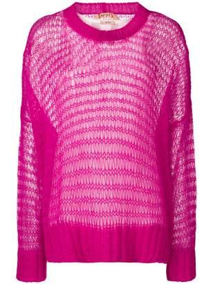 No.21 oversized loose knit jumper
