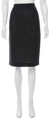 Martin Grant Eyelet Knee-Length Skirt