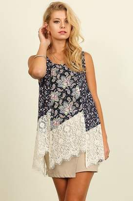 People Outfitter Floral Lace Top