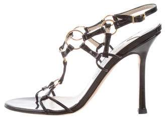 Jimmy Choo Patent Leather Slingback Sandals