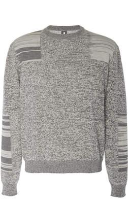 Oamc Manual Mouline Paneled Cotton Sweater