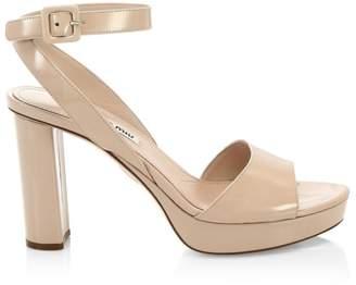 Miu Miu Block Heel Platform Sandals
