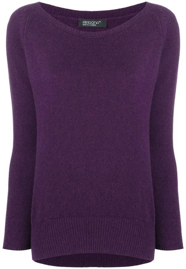 Aragona cashmere scoop neck sweater