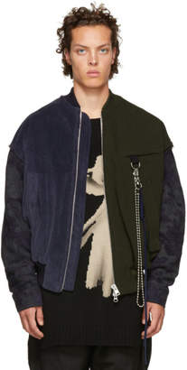 Song For The Mute Blue and Green Coach Bomber Jacket