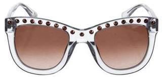 Diane von Furstenberg Embellished Resin Sunglasses