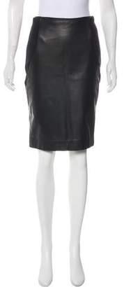 Rena Lange Black Midi Wool Skirt