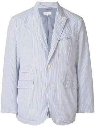 Engineered Garments striped seersucker blazer