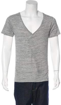 Robert Geller Knit V-Neck T-Shirt w/ Tags