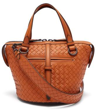 Bottega Veneta - Tambura Small Intrecciato Leather Bag - Womens - Orange