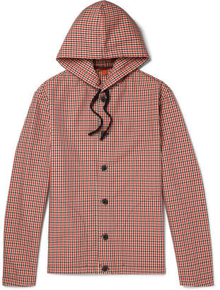 Barena Gingham Shell Hooded Jacket