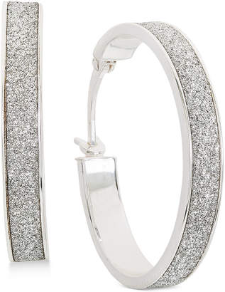 Giani Bernini Glitter Hoop Earrings in Sterling Silver