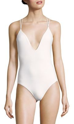 Michael Kors Collection One-Piece Strappy Swimsuit