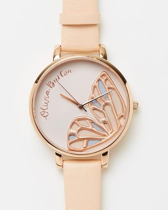 Embroidered Butterfly Watch
