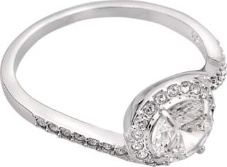 Swarovski ATTRACT LIGHT SWIRL RING $130 thestylecure.com