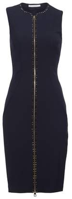 Versace Studded Zip Front Dress